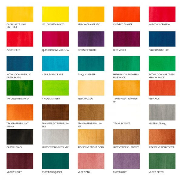 Farbauswahl der Liquitex Inks