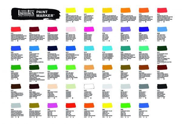 COL 3577.10 LIQ Paint Marker Colour Chart Leaflet