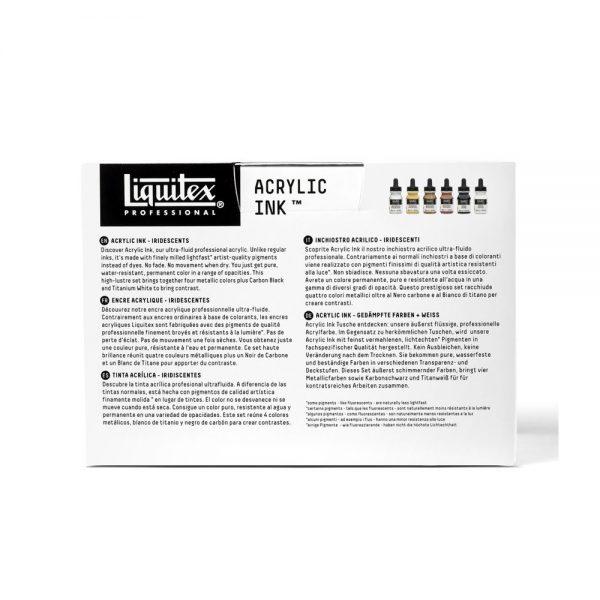 Liquitex Ink IridescentSet PackageBack
