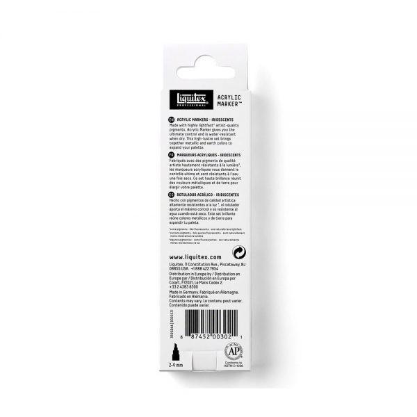Liquitex Marker IridescentSet PackageBack